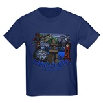 Kid's Vancouver Souvenir T-shirts Vancouver BC Dark T-Shirts for Boys & GIrls
