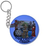 Vancouver Souvenir Keychains Vancouvr Landmark Gifts Vancouver Gastown Keychains Ornaments / Keepsakes Gifts Vancouver Souvenir Totem Pole Keychains& Gifts