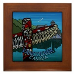 Vancouver Souvenir Framed Tile Vancouver BC Gifts