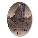 Vancouver BC Art Ornament Vancouver Keepsake(Oval)