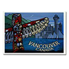 Vancouver BC Souvenirs Fridge Magnets, Vancouver Landmark Art & Design Fridge Magnets by Canadian Vancouver Artist / Designer Kim Hunter Art Greeting Cards, postcards, & More! Custom Design Vancouver Canada Gifts for Home & Office. Cool Vancouver BC Landmark & Inukshuk Souvenirs