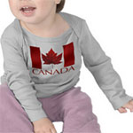 Canada Baby Shirts Personalized Canada Flag Souvenir Baby Shirts & Gifts