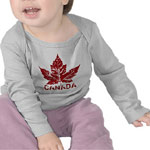 Canada Baby Shirts Personalized Canada Souvenir Baby Shirts & Gifts