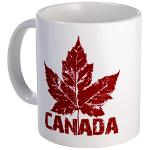 Canada Souvenir Mugs Cups Cool  Canada  Cups Mugs & Glasses Retro Maple Leaf Canada Souvenirs Designer Canadian Gifts Keepsakes & Souvenirs