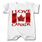 I Love Canada Baby One Pieces & Creepers Canada Souvenir Collection