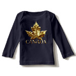 customizable Baby Canada shirts for baby boys and baby girls, Canada souvenir baby shirts collection