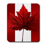 Canada Flag Mousepad Canada Souvenir Red Maple Leaf Mousepad for Men Woman Kids Home & Office