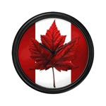Canada Souvenir Wall Clock Canada Maple Leaf Souvenir Gifts Canadian Souvenir 						 Canada Flag Clock Souvenirs for Home & Office