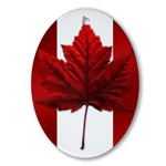 Canadian Flag Souvenir Ornament Keepsake Canada Trinket Canada Souvenirs for Home & Office Beautiful Red Maple Leaf Canada Ornaments