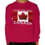 Canada Flag Kid's Shirt Personalized Souvenir Kid's Long Sleeve Shirts Collection