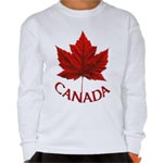 Canada Souvenir Kid's Long Sleeve Shirts Collection