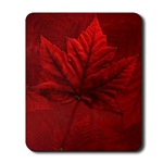 Autumn Maple Leaf Art Mousepads Beautiful Canadian Maple Leaf Souvenir Mousepad Canada Souvenirs for Home & Office