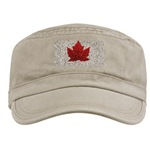 Canada Souvenir Military Cap Canada Caps & Gifts Cool Canadian Maple Leaf Caps & Gifts Canada Maple Leaf Art Caps