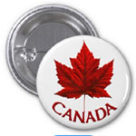 Canada Buttons Souvenir Mapel Leaf Canada Buttons Collection