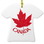 Fully customizable Canada souvenir decorations, keepsakes and fully customizable Canada ornaments