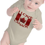 I Love Canada Baby Souvenirs Baby Canada Collection