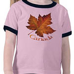 Kid's Canada Souvenir T-shirts Toddler's & Kid's Short Sleeve Canada Shirts Customizable Canada Souvenir Shirts & Gifts