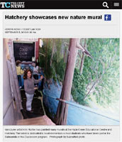 Tricity News Hatchery showcases new nature mural by Artist Designer Kim Hunter / INDIGO
