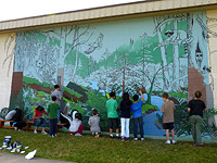 Mural Painting Step by Step Vancouver Landscape Painting for Kids