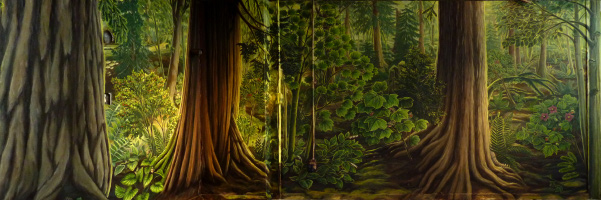 Stanley Park Nature House Mural Landscape Paintings