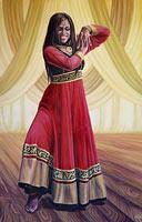 Custom Painted Dancer Portrait from Photos 2' x 3' acrylic on canvas