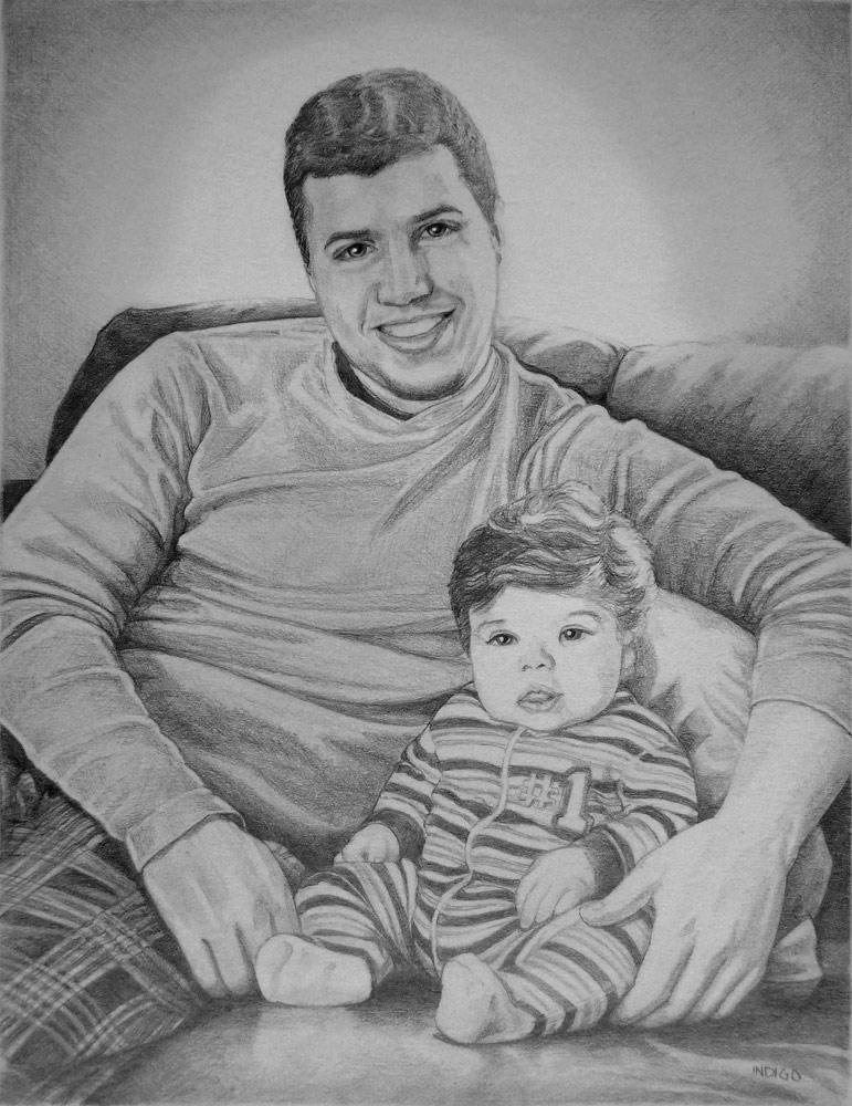Custom pencil portraits from photos vancouver artist designer kim hunter original fine art drawings from photographs