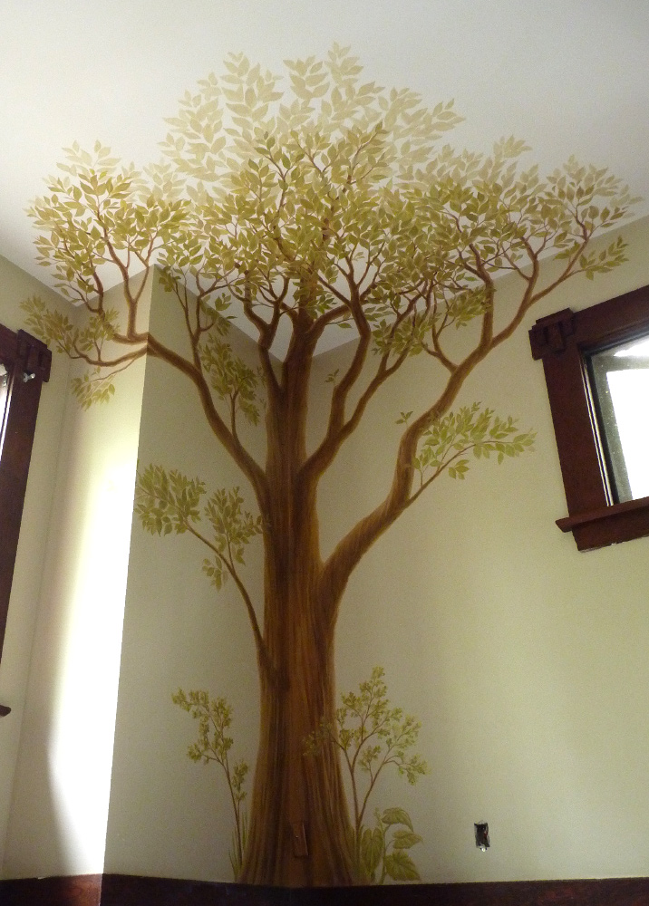 Bedroom Wall Painting Tree : Mural artist designer kim hunter indigo muralist