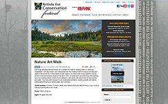 Artist's for Conservation Festival Nature Art Walk with Kim Hunter