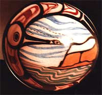 crafts Painted / Glazed in the traditional Hiada Style of Art. First Nations Pottery Made to Order Click on Image for Detail