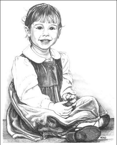 Childs pencil portrait