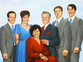 ZCustom Painting Family Portrait in Oil Paint on Canvas Custom Formal Family Portrait Painting by Canadian Vancouver Portrait Artist Kim Hunter