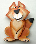Custom Pet Decorations Hand Made Wooden Christmas Decorations Custom Pet Gifts Husky Christmas Decorations / Chow / Fox Ornaments & Decorations