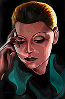 art deco paintng Greta Garbo acrylic painting portait click on Image for detail