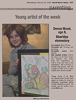 Cited as the Young Artist of the Week's favorite artist.