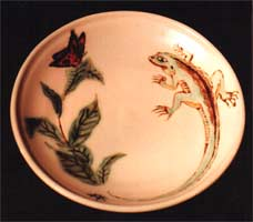 crafts  pottery One of a kind, hand crafted kiln fired clay Plate.  Made to Order Click on Image for Detail