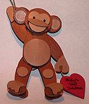 Wooden handmade monkey ornaments Custom Wood Crafts Carolers Christmas Decorations & Wood Crafts Made to Order