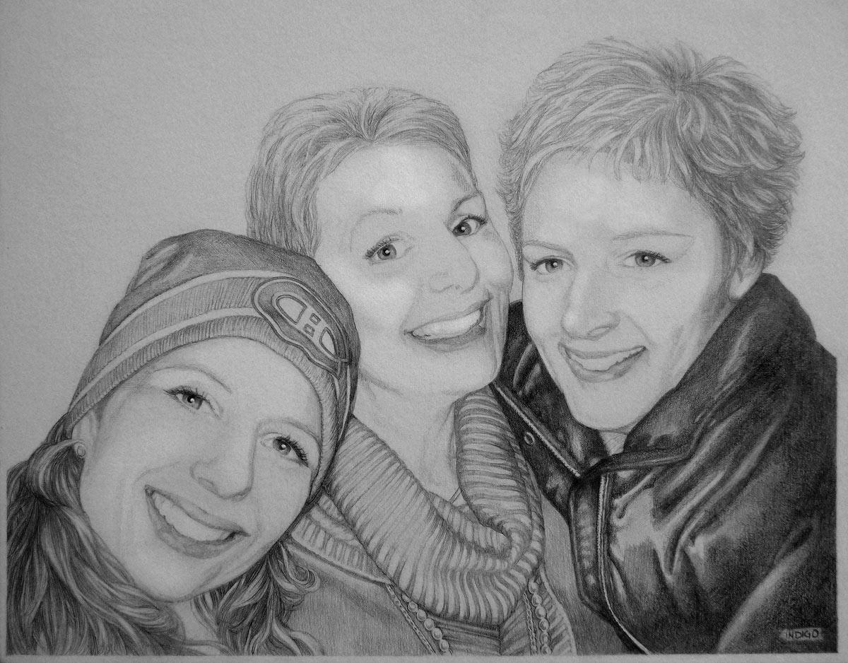 Portraits pencil sketch portraits from photographs custom