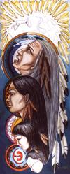 Spiritual Native / Indian art painting Evolution of Life and Death  Original  Painting. Click on Image for Detail