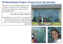 VCS Beautification Project School Mural with Kim Hunter