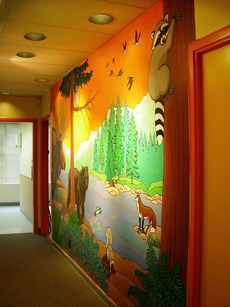 Mural artist designer kim hunter indigo muralist for Custom mural painting