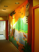 Wildlife Wall Mural Childrens Wall Mural BC Landscape & Wildlife Painting / Mural Large Wall Painting by Canadian Artist / Vancouver BC Muralist Kim Hunter / Indigo