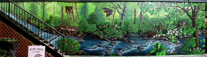 Wildlife Canadian Landscape Painting Mural Artist Vancovuer BC Hyde Creek  Mural Artist Kim Hunter Part 70