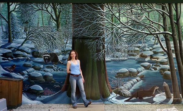 Artist kim hunter indigo canadian artist designer for Mural painting images