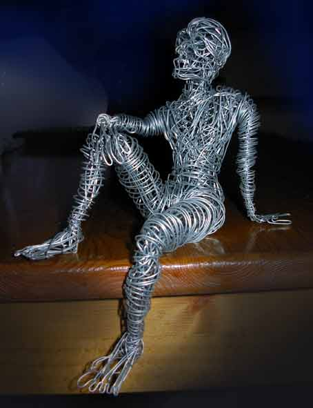 Galvanized Wire Sculpture 7 X 45