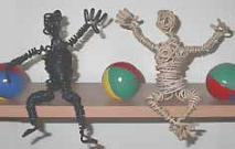 Crafts, Hand Made Arts & Crafts wire cable people.-Sold-