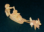 Arctic Sled w. Kids & Dog Handmade Wooden Christmas Decorations  Traditional Wooden Handcrafted Kids with Sled Arctic Christmas Ornaments Decorations