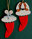 Handmade Wooden Christmas Decorations Traditional Handcrafted Christmas Ornaments Decorations Handmade Wooden Stockings with Pets Christmas Decoration