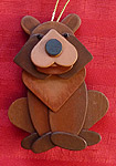 Handmade Wooden Christmas Decoration Wood Handcrafted Christmas Ornaments West Coast Canadian Wildlife Series Brown Bear