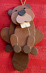Handmade Wooden Christmas Decoration Wood Handcrafted Christmas Ornaments Canadian Wildlife Series Beavers