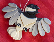 Handmade Wooden Christmas Decoration Wood Handcrafted Christmas Ornaments West Coast Wildlife Series Chickadee Songbirds